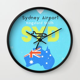 SYD airport Kingsford Smith Wall Clock