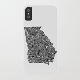 Typographic Georgia iPhone Case