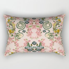 Where lizards live-Pink Rectangular Pillow