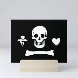Stede Bonnet Pirate Flag Jolly Roger Mini Art Print