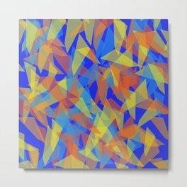 orange blue pattern Metal Print
