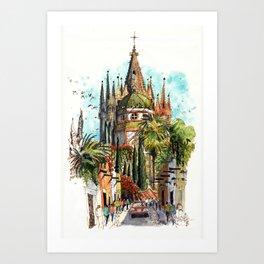 Calle Aldama, San Miguel de Allende Art Print