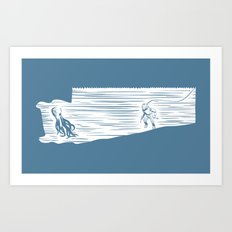Deep Seasaw Diver Art Print