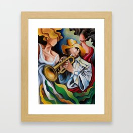 the trumpet's muses Framed Art Print