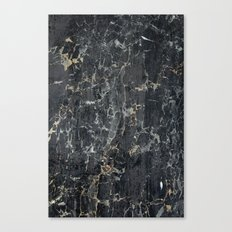 Old black marBLe Canvas Print