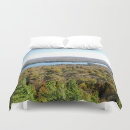 Above The Fall Duvet Cover