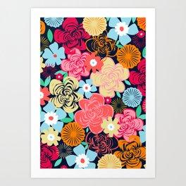 Evening Floral Art Print