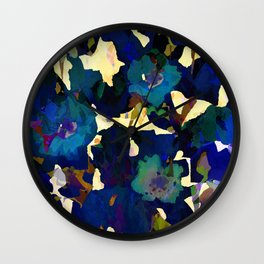 Daffodil Blue Wall Clock