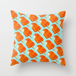 Popsicle Pattern - Creamsicle Throw Pillow