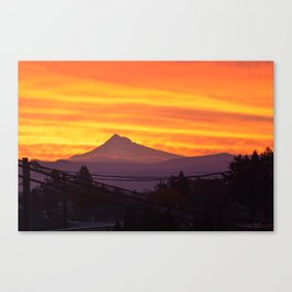 Mt. Hood Sunrise Canvas Print