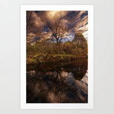 Canal side Reflections Art Print