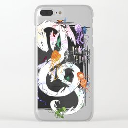 Hoard of jellyfishes Clear iPhone Case
