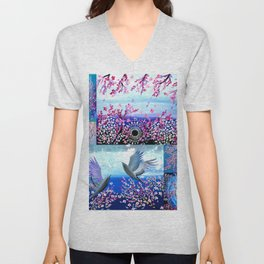 Cherry Blossom Collage Unisex V-Neck