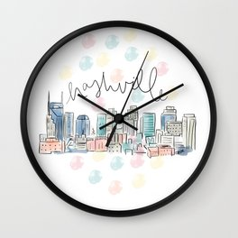 Nashville Skyline RER Wall Clock