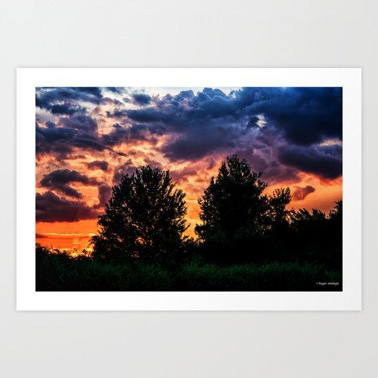Dry Day Sunset Art Print