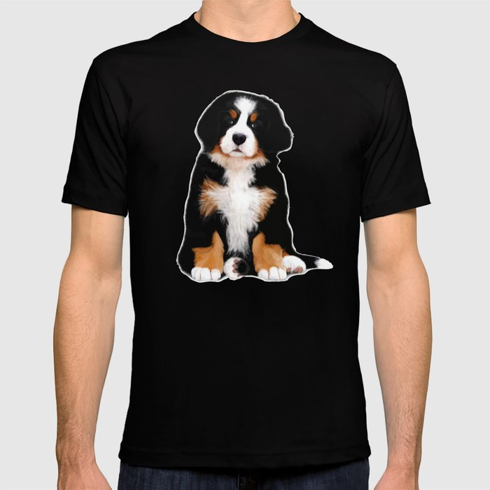 8b8f67ca256f Bernese mountain dog puppy T-shirt by scubaprincess