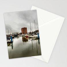 Hull Marina in the Rain Stationery Cards