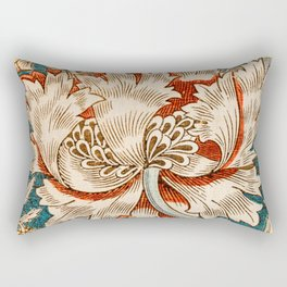Honeysuckle (1876) by William Morris, Abstract I Poster Rectangular Pillow