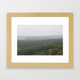 Over Harz Wald Framed Art Print