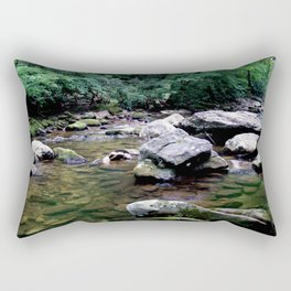 Jacob Fork River North Carolina Rectangular Pillow