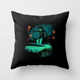 Space surfer art Throw Pillow