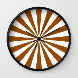 Starburst (Brown/White) Wall Clock