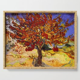 Vincent Van Gogh Mulberry Tree Serving Tray