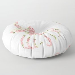 Floral Facehugger Floor Pillow