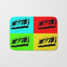 Cassettes Square Bath Mat