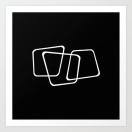 Simply Minimal 2 - Abstract, black and white Art Print