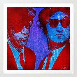 les frères bleu Art Print