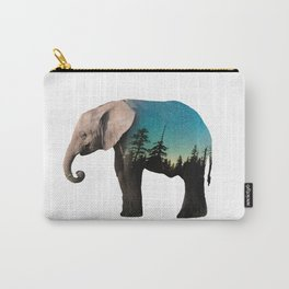 Elephant Double Exposure Carry-All Pouch