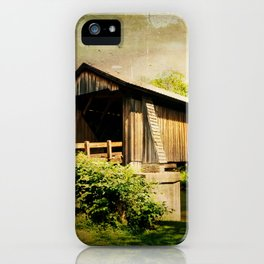 Livingston Manor Covered Bridge iPhone Case