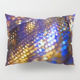 Gold Blue bokeh Pillow Sham