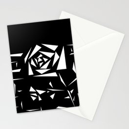 Black and white abstract pattern of Roses. Triangles .1 Stationery Cards