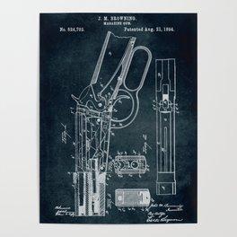 1894 - Magazine gun patent art Poster