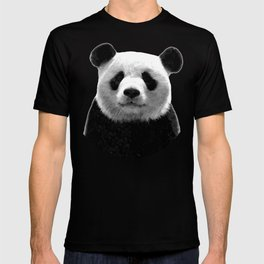 Black and white panda portrait T-shirt