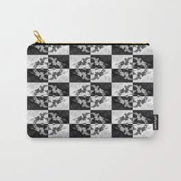 Swimming Glyphs and Sunflowers: Checkered Version Carry-All Pouch