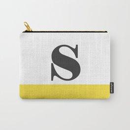 Monogram Letter S-Pantone-Buttercup Carry-All Pouch