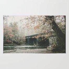 Bridge over Oconaluftee River in North Carolina Rug