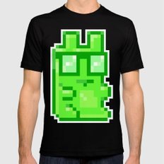 Giant Pixel Gummy Bear Mens Fitted Tee Black MEDIUM