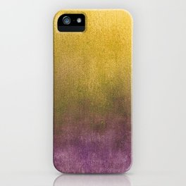 eggplant and gold watercolor iPhone Case