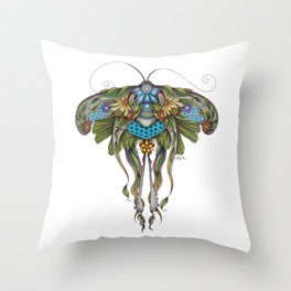 Botanical Butterfly No. 1 Throw Pillow