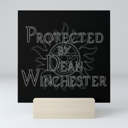 Protected by Dean Winchester Mini Art Print