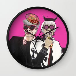Fashionistas in NYC Wall Clock