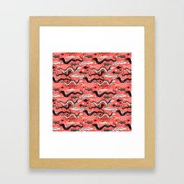 Beautiful graphic illustration of the sea snake, Moray Framed Art Print