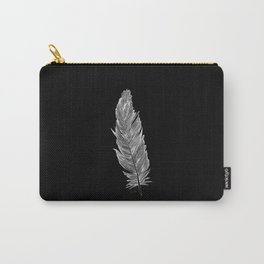 Light white feather Carry-All Pouch