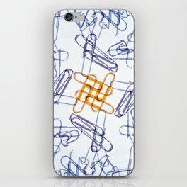 Kaleidoscope -Paper Clips iPhone Skin