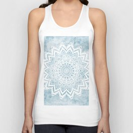 LIGHT BLUE MANDALA SAVANAH Unisex Tank Top