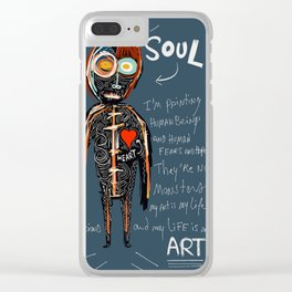 Heart and Soul street art graffiti art brut painting Clear iPhone Case